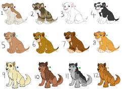 Mixed Adoptable Sheet - OPEN by PCollinsAdoptables