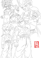 Dragon Ball Kai Cell Saga Line by SnaKou