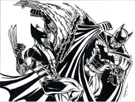 DRAW THIS AGAIN! BATMAN vs WOLVERINE by FanBoy67