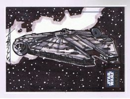 SW Galaxy 6 11 Sketch cards by Hodges-Art