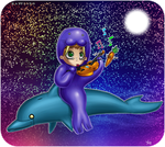 GEORGE RIDES DOLPHINS by Kattling