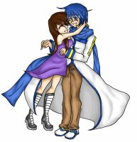 Me and Kaito by kittymochi