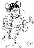 CHUN LI: Street Fighter sketch by rocketraygun