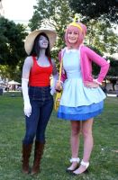 Marceline and Bubblegum by jobiberry