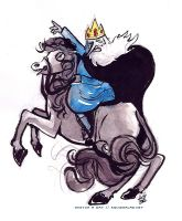 Ice King as Napoleon Bonaparte Crossing the Alps by Tsubasa-No-Kami