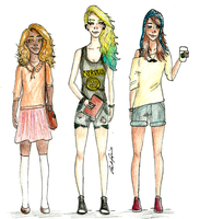 The girls of prophecy in a Hipster version by brenda--amancio
