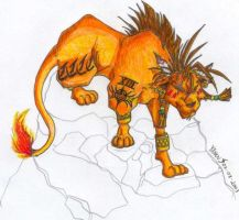Red XIII from Final Fantasy 7 by Fonzu