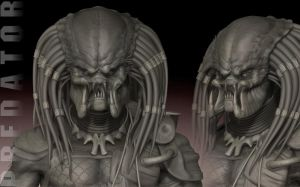 Predator - Zbrush WIP 19 by FoxHound1984