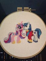 Shining Armour and Cadence by gothicgirl4444