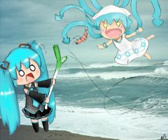 Miku and Squid Girl by VvibrantcolorsS
