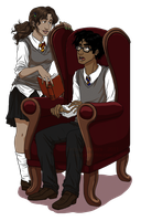 Roxanne and Fred Weasley by trojan-rabbit