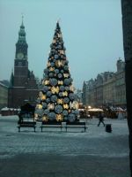 Christmas Tree with lights by Qymaen