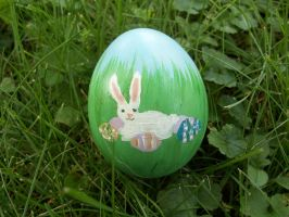 Painted Easter Bunny Egg by taylor-of-the-phunk