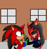 With-Red-the-Hedgehog by shaxime2soxime