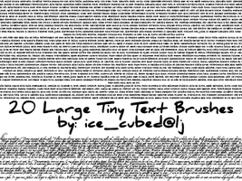 large tiny text brushes by merrigoround