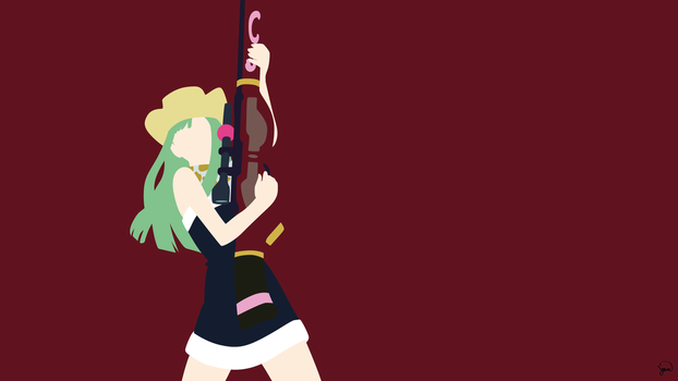 Bisca Connell (Fairy Tail) Minimalist Wallpaper by greenmapple17