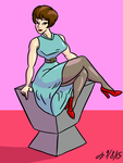 Sixties Pinup by ArchangelDreadnought