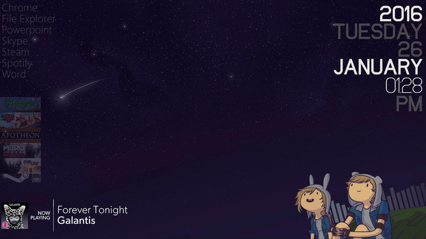Rainmeter - AT Night Sky Theme (Fionna Variant) by Anteater97