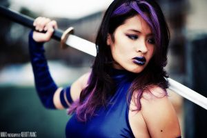 Psylocke - Ready for battle by kiwi5frog