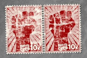 Red Power Stamps by skinniouschinnious