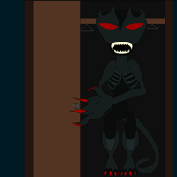 The shadow Monster in the closet by MasterghostUnlimited