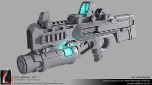 Zeuss Electroprojection Rifle High-resolution mesh by LivewireDeviant