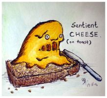 Sentient cheese by bonzaialsatian