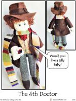 4th Doctor Plushie by SoandSewPlushies