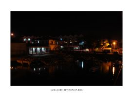 Manado Harbor at Night by farlydapamanis