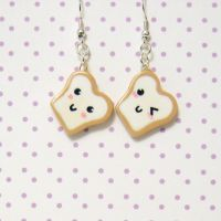 bread buddy earrings by coonies