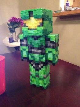 Master Chief 3D Perler. by Libbyseay