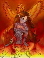 Warrior of the Flames. by lizjowen
