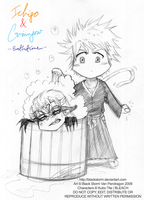 Ichigo n Grimmjow -Bathtime- by blackstorm