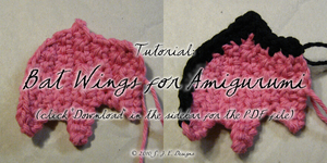 Bat Wings for Amigurumi by mnemosynestar