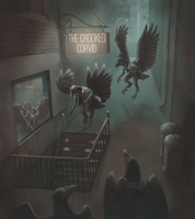 The Crooked Corvid by DimeSpin