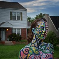 Social Groovz Abstract Body Painting by thebryancrump