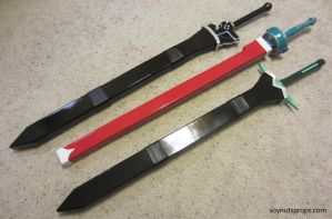 SAO - Swords + Scabbards by Soynuts