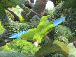 Mosaic Living Sculpture - Uvea Parakeet by Kitteh-Pawz