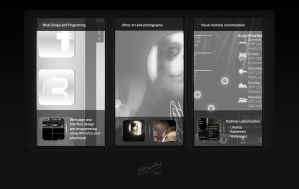 First portfolio design by TomGrooby