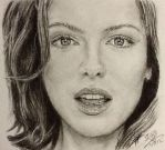 Pencil portrait of Kate Beckinsale by chaseroflight