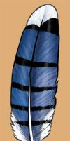 BlueJay Feather by cambium
