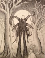 Slender Man Illustration by tbroadwater