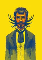 the man with the dragon moustache by unded