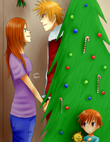 IchiHime Christmas by goldenthyme