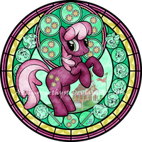 Commission: Stained Glass: Cheerilee -vector- by Akili-Amethyst