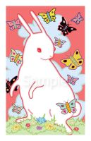Rabbit and Butterflies by AngryBird