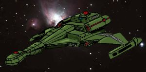 klingon Fast Attack Cruiser by Andared