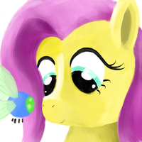 Fluttershy - the 1024 Portraits by richard-vdijk