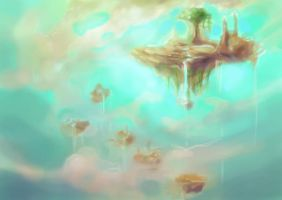 sky island by DigitallyDumbfounded
