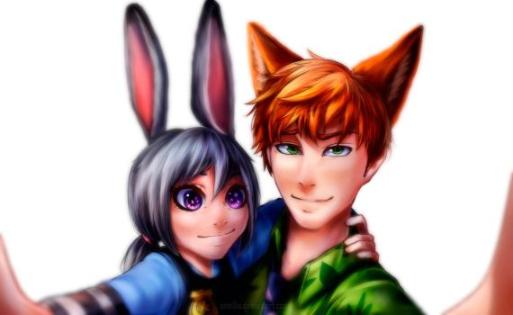 Judy and Nick by Omellia